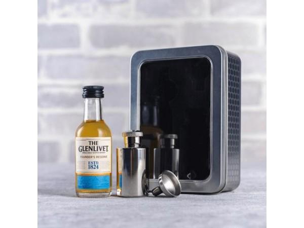 Glenlivet 5cl with Mini Hip Flask