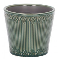 LAURA ASHLEY Edie Cone Indoor Pots Green
