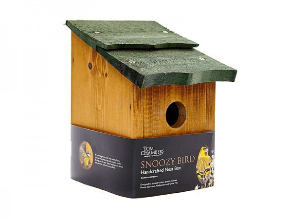 TOM CHAMBERS SNOOZY BIRD HANDCRAFTED NEST BOX