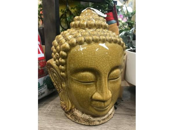 BONSAI LARGE GLAZED BUDDHA HEAD