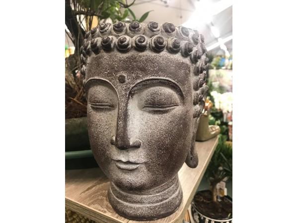 BONSAI LARGE RESIN BUDDHA HEAD PLANTER