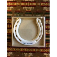 East of India Porcelain Gift Hanging Horseshoe 'Just Married'