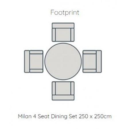 Milan 4 Chair Dining Set