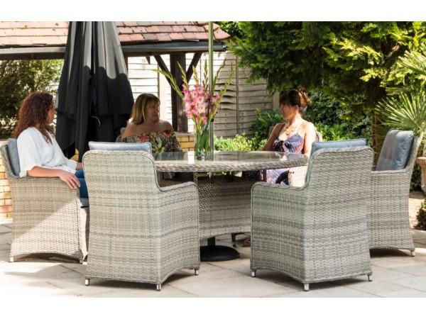 Milan 6 Chair dining set