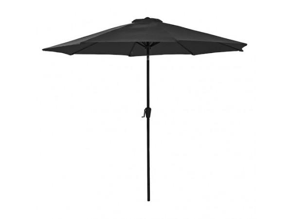 Sturdi 2.5m Round Aluminium Parasol in Black
