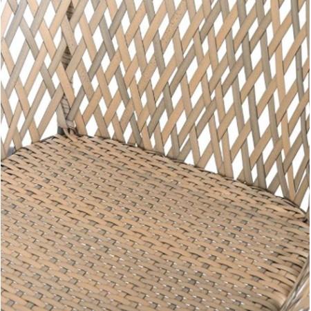 TOBS Faux Rattan Folding Lounge Set Mustard