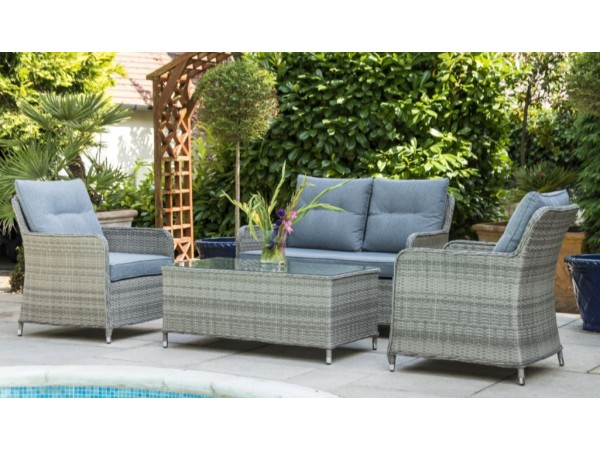 Milan 2 Seat Sofa Set with 2 Armchairs & Coffee Table