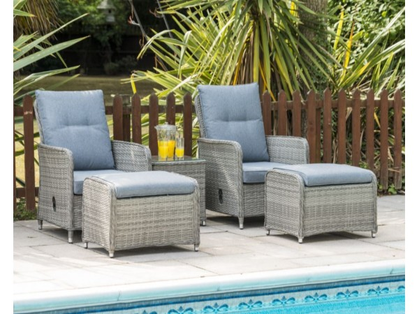 Milan Reclining Chairs, Table & Footstool