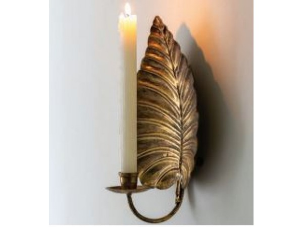GRAND ILLUSIONS WALL LEAF SCONCE ANTIQUE GOLD