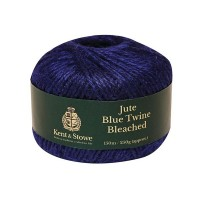 Kent & Stowe Jute Twine Bleached 150m,  250g Blue or Cranberry