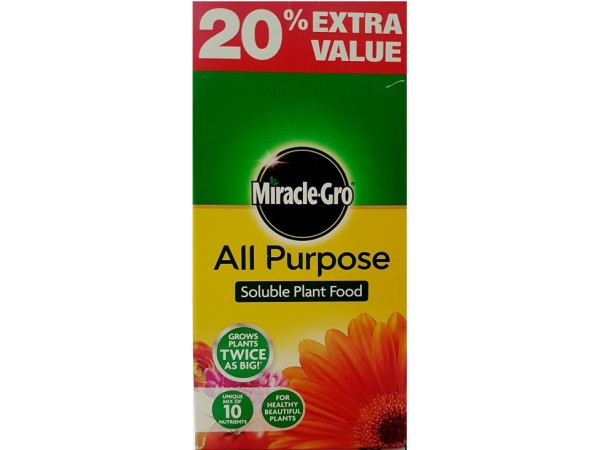 MIRACLE-GRO ALL PURPOSE PLANT FEED 1kg + 20% FREE