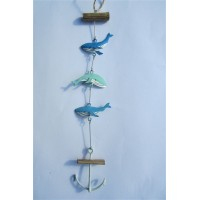 SHOELESS JOE MINI WHALE VERTICAL GARLAND WITH ANCHOR