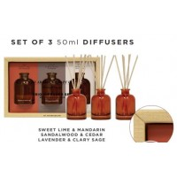 THE AROMATHERAPY CO.  TRIO DIFFUSER SET